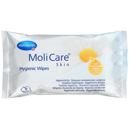 Влажные гигиенические салфетки MoliCare Skin/Моликар Скин, 10 шт.