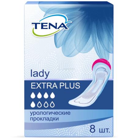Урологические прокладки TENA Lady Extra Plus /ТЕНА Леди Экстра Плюс, 8 шт.