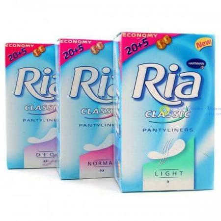 Ежедневные гигиенические прокладки Ria Slip Classic Sanitary Towels / Риа Слип Классик, 25 шт.